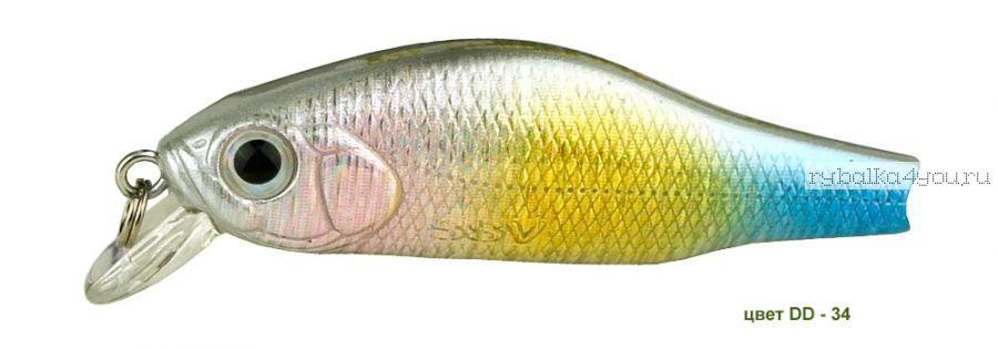Воблер Silver Stream Combek S 35S 35 мм / 2 гр / Заглубление: 0,4 - 0,6 м / цвет: DD-34