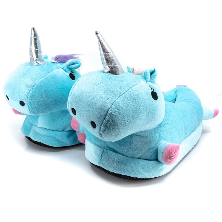 Тапочки Кигуруми Единорог Голубые