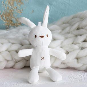 Зайка для куклы белый, 15 см