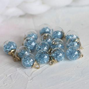 Бусина-подвеска с голубыми стразами