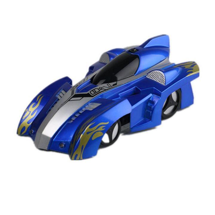Радиоуправляемая антигравитационная машинка Climb Force, цвет синий