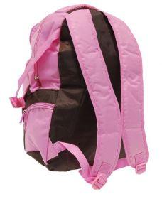"""Рюкзак школьный """"Action"""", цвет: коричневый, розовый"""