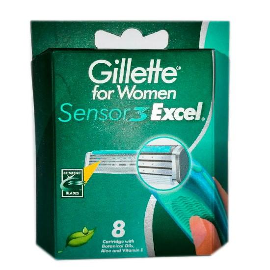 Gillette Sensor3 Excel for Women сменные кассеты женские (8 шт)