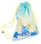 Мешок для обуви Tiger Smart Kids 38.5х29 см, цвет: голубой/желтый