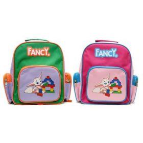 Рюкзак детский, разм.28x23x10 см, мягкая спинка, ассорти 2 цвета