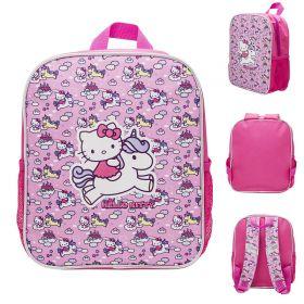 Рюкзак HELLO KITTY, детский, размер 30х25х11 см, мягкая спинка,светоотраж. полоски безопасности