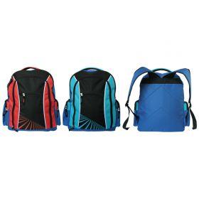 Рюкзак подростковый, разм.40,6х31,70х15,2 см, ассорти 2 цвета, красно-черный, сине-черный
