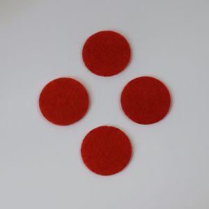 Фетровые пяточки 30мм, с прорезями, цвет № 19 алый (1уп = 243шт)