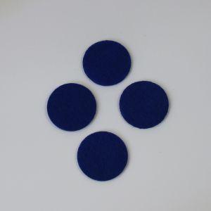 Фетровые пяточки 30мм, с прорезями, цвет № 21 темно-синий (1уп = 243шт)