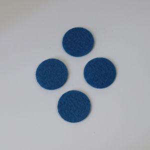 Фетровые пяточки 30мм, с прорезями, цвет № 23 светло-синий (1уп = 243шт)