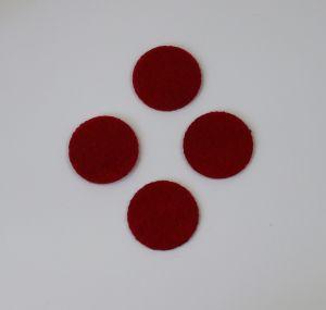 Фетровые пяточки 35мм, с прорезями, цвет № 07 темно-красный (1 уп = 192 шт)