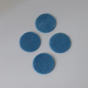 Фетровые пяточки 35мм, с прорезями, цвет № 24 голубой (1 уп = 192 шт)
