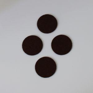 Фетровые пяточки 35мм, с прорезями, цвет № 35 коричневый (1 уп = 192 шт)
