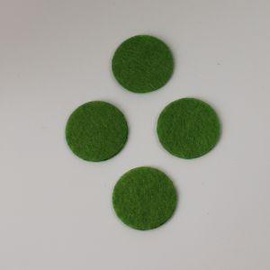 Фетровые пяточки 35мм, с прорезями, цвет № 49 светло-оливковый (1 уп = 192 шт)
