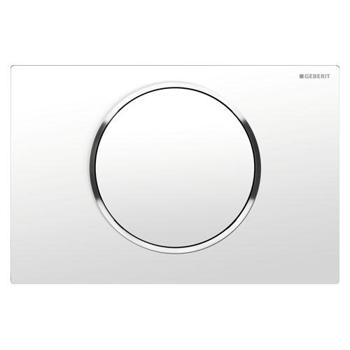 Кнопка смыва GEBERIT 115.758.KJ.5 Sigma10 (бел/хром глянц)