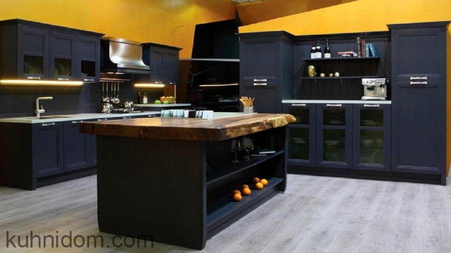 Кухня Манчестер Серый Жемчуг с островом