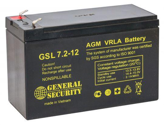 Аккумулятор GENERAL SECURITY GS 7.2-12 12 В 7,2 А/ч