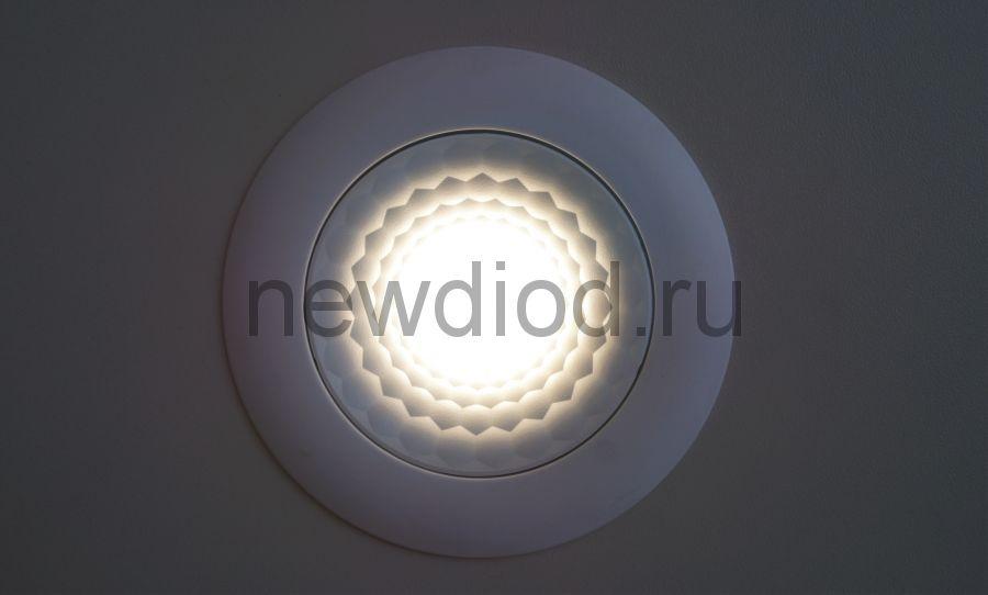 Светодиодная панель поворотная 3D Spotlight 7W-2м² 70/90mm 4000K Oreol (100/кор)