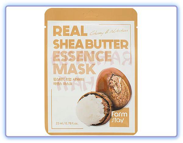 Маска для лица с маслом ши FarmStay Real Shea Butter Essence Mask