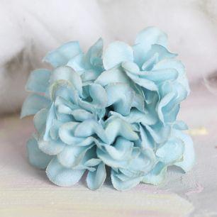Тканевый цветок Хризантема голубая 4.5
