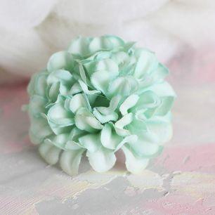 Тканевый цветок  Хризантема мятная  4.5 см