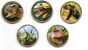 Динозавры 10 песет Саха́рская Ара́бская Демократи́ческая респу́блика 2020 набор 5 монет