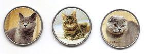 Кошки Набор монет  1 1/2 экю Канарские острова 2020 (3 монеты)
