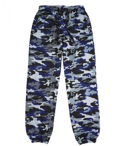 Камуфляжные джоггеры мужские синие