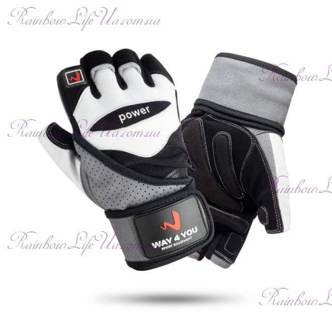 """Перчатки для фитнеса и тяжелой атлетики с напульсником """"Way4you"""""""