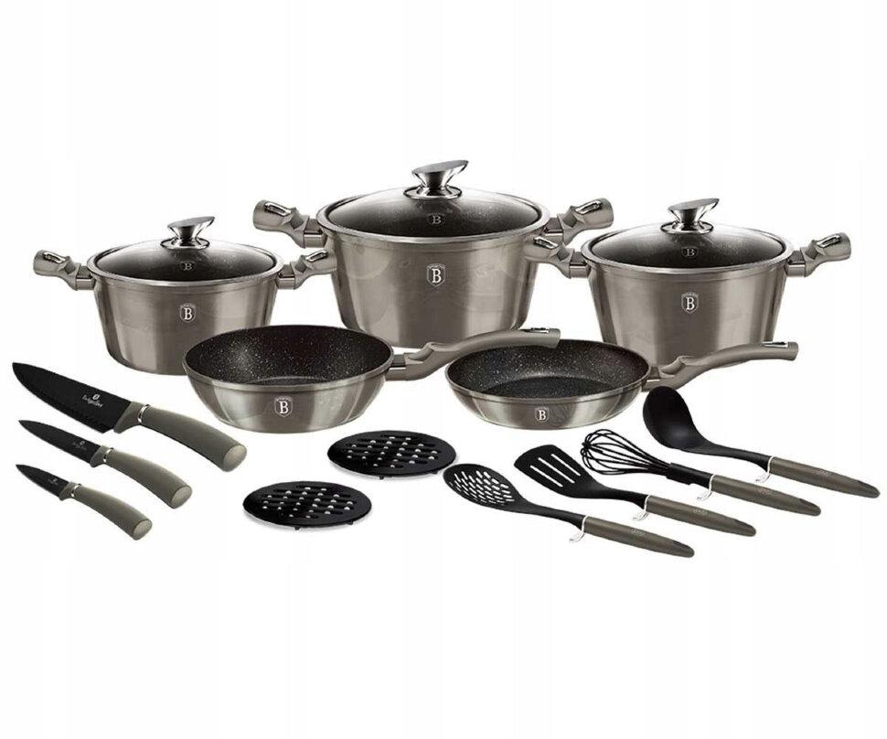BH-6163 Carbon Metallic Line Набор посуды 17пр.