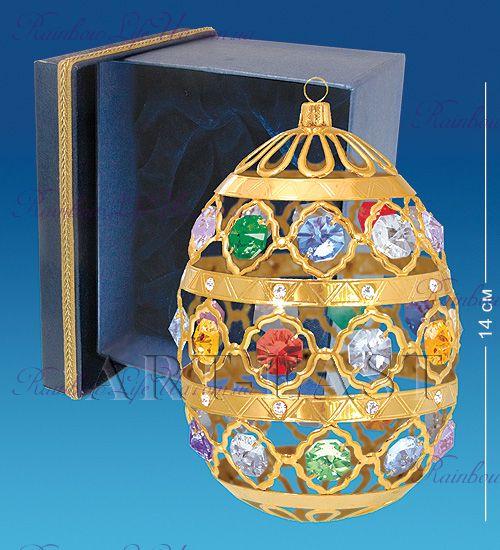 "Фигурка на подвеске Яйцо с камнями ""Swarovski"""