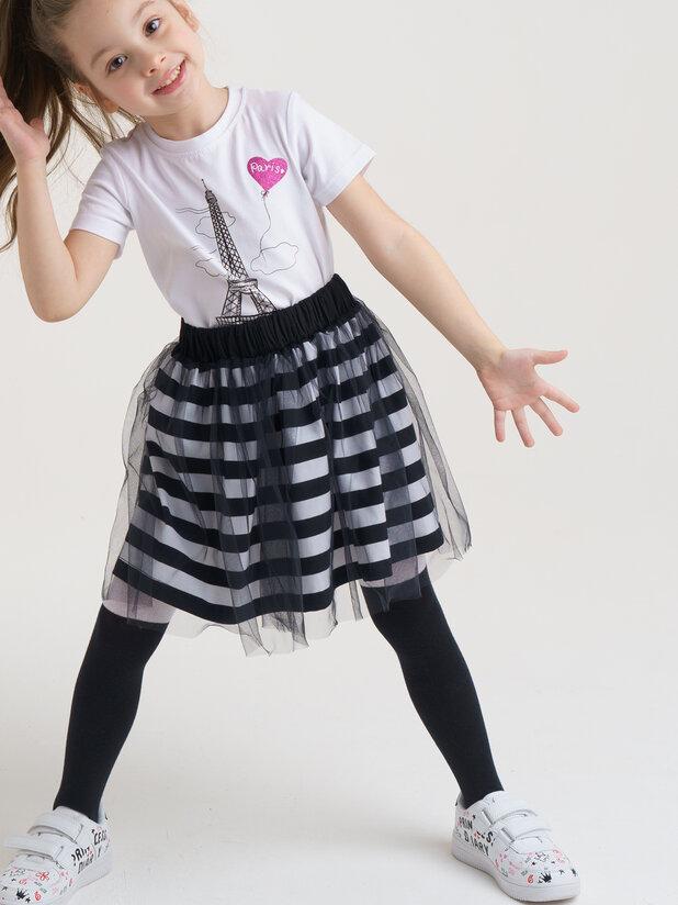 футболка короткий рукав (кроеный трикотаж) для девочек