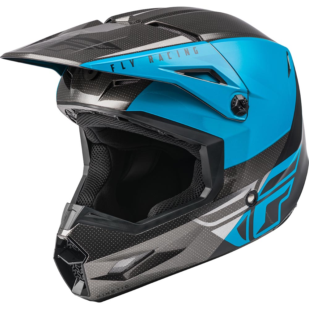 Fly Racing 2021 Kinetic Streigt Edge Blue/Grey/Black шлем внедорожный