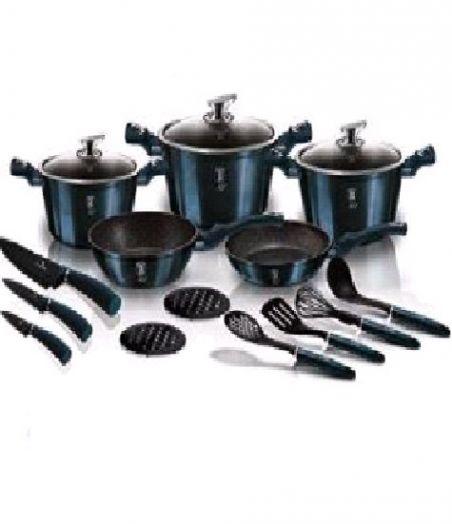 BH-6164 Aquamarine Edition Набор посуды 17пр.