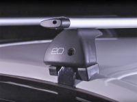 Багажник на крышу Chevrolet Aveo 2002-11 sedan/hatchback, Евродеталь, крыловидные дуги