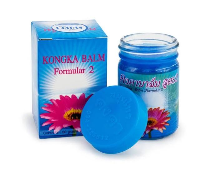 Синий тайский бальзам Формула 2 Kongka 50 гр