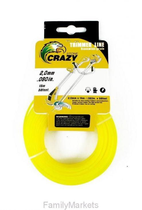 Леска для триммера Crazy Stone, 2.0 мм