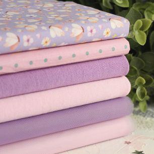 Набор тканей для пошива Сиреневые бабочки