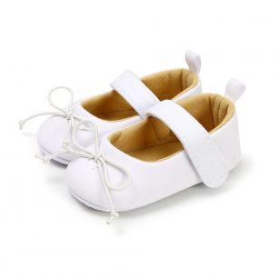 Сандалики белые с бантиком 11 см
