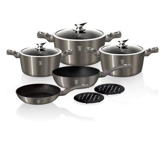 BH-1219 Carbon Metallic Line Набор посуды 10 пр.
