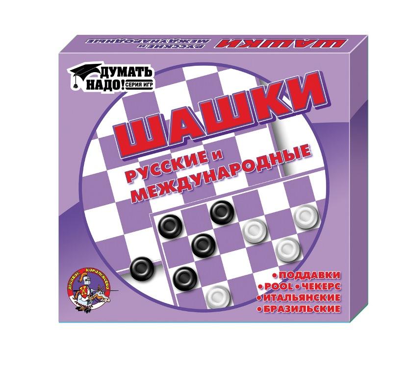 Настольная игра ДЕСЯТОЕ КОРОЛЕВСТВО 00105 Шашки / шашки малые