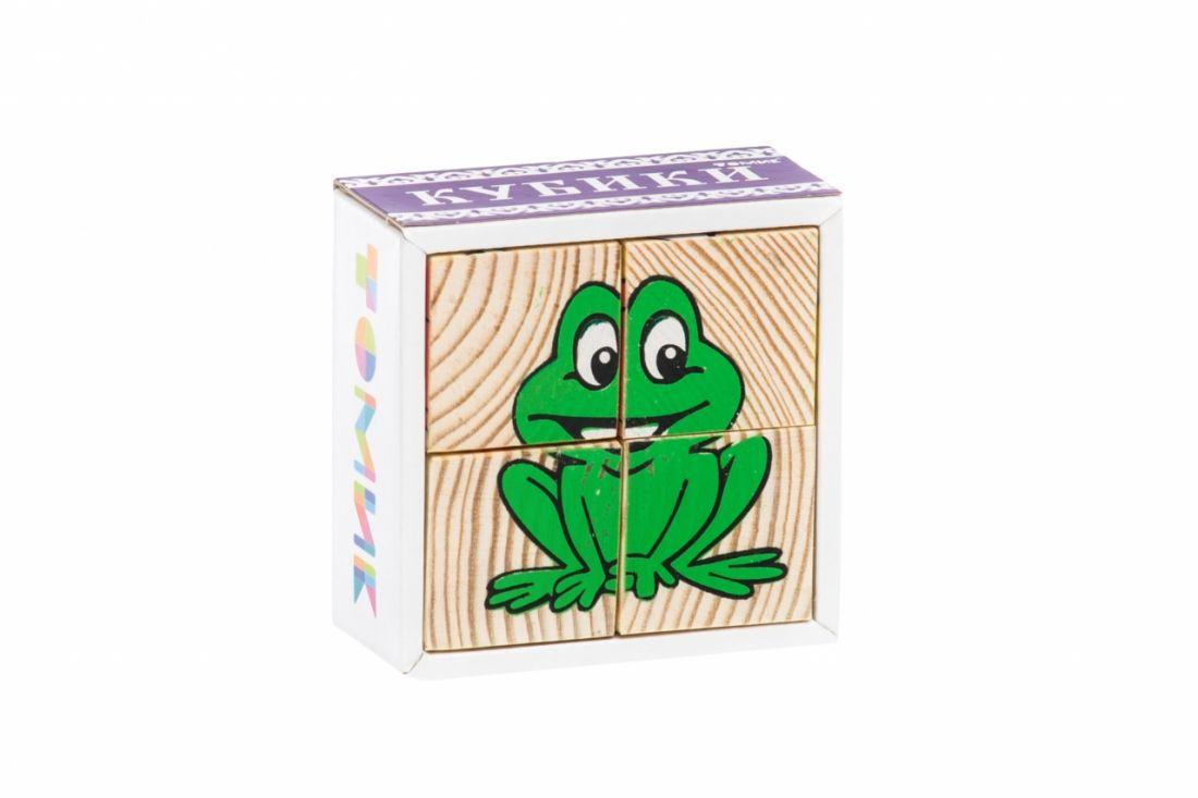 Кубики ТОМИК 3333-1 Животные (4 шт)