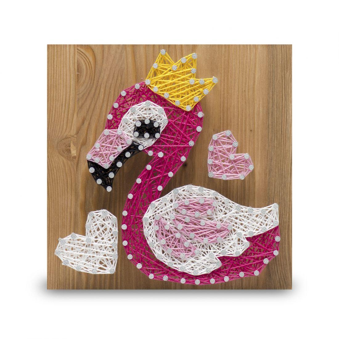 Стринг арт STRING ART LAB SAC003 Фламинго