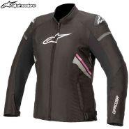 Куртка женская Alpinestars Stella T-GP Plus R V3, Чёрно-бело-розовая