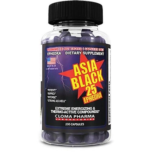 asia black 25 ephedra 100 кап