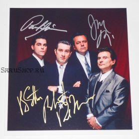 Автографы: Роберт Де Ниро, Рэй Лиотта, Джо Пеши, Пол Сорвино. Славные парни