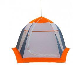 Зимняя палатка Митек Нельма 3 серый/оранж