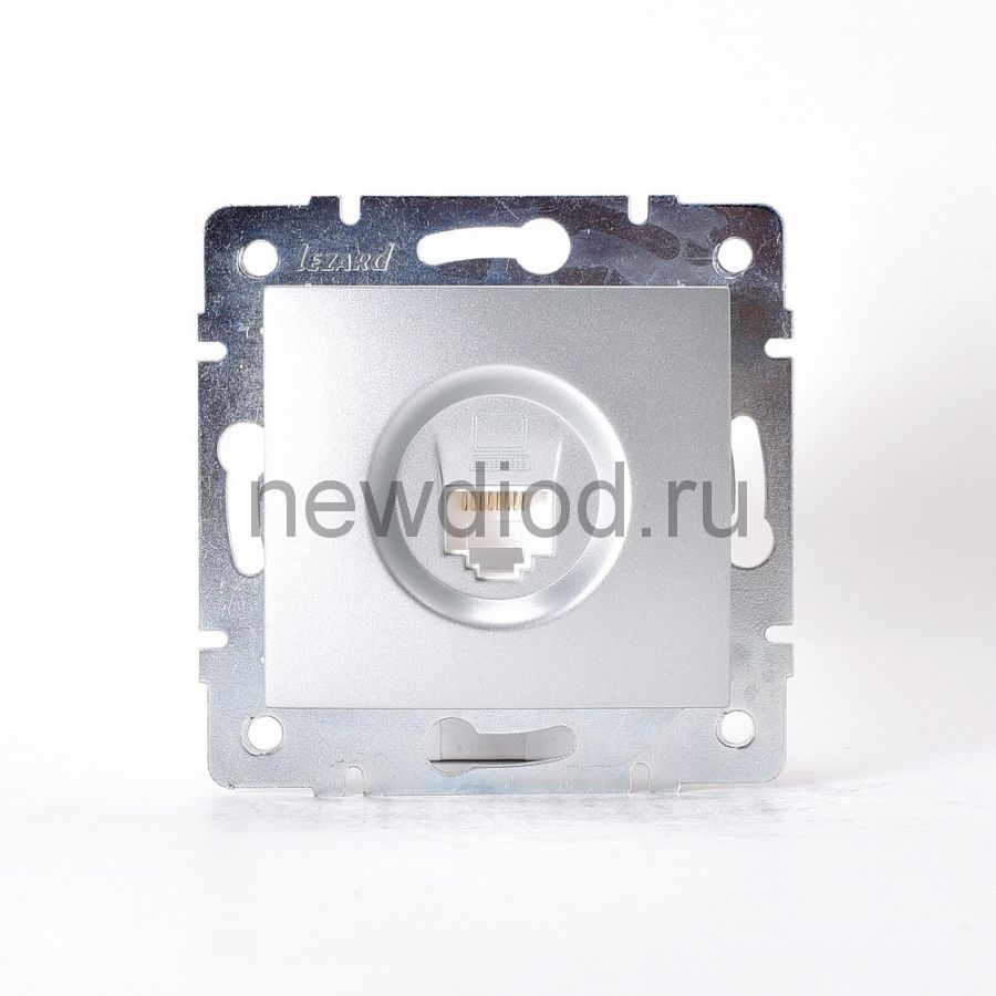 KARINA Розетка компьютерная матовое серебро (10шт/120шт)