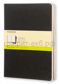 Книжка зап.Moleskine XLarge Cahier нелинованная черная QP323