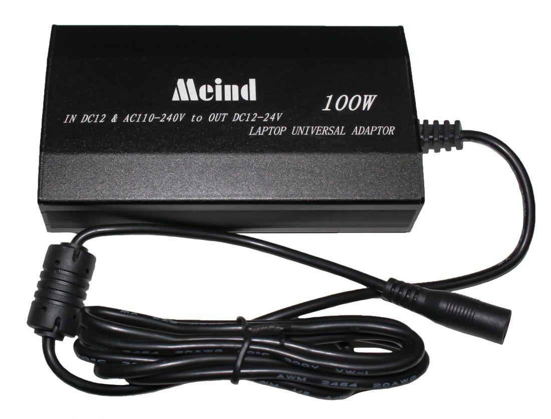 Универсальный адаптер питания MEIND M505A для техники (12V-24V; 4A) 100W